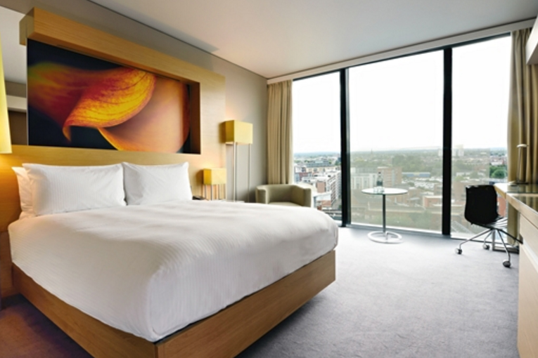 Hilton Deansgate is a contemporary option with a popular bar overlooking Manchester's skyline.